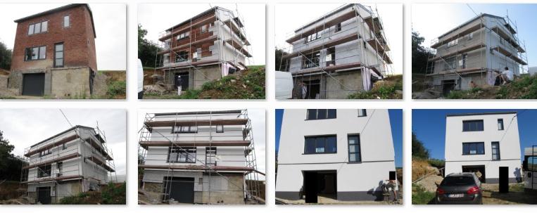 Външна изолация на къща - обект на фирма Пат Строй